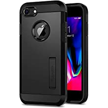 Spigen Tough Armor, Designed for iPhone 8 Case, iPhone 7 Case, Shockproof Air Cushion and Dual Layer with Kickstand Protective Case - Black