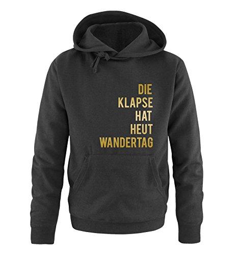 Comedy Shirts - DIE Klapse HAT HEUT Wandertag - Herren Hoodie - Schwarz/Gold Gr. 4XL Schwarz-gold-tv-serie