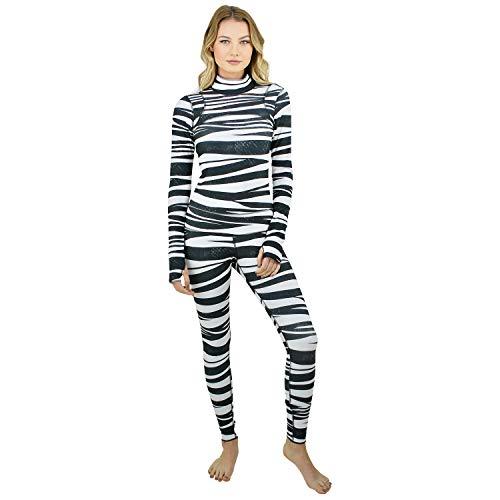 tutublue Damen Ganzkörper-Badeanzug - volle Abdeckung, Lange Ärmel, Sonnenschutz, Bademode - Mehrfarbig - Medium