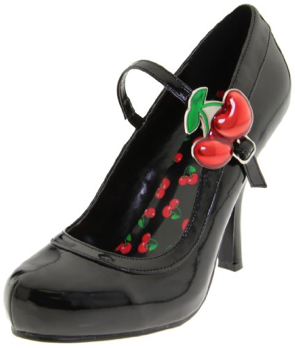 Pleaser Cutie Vintage Pumps, Schwarz