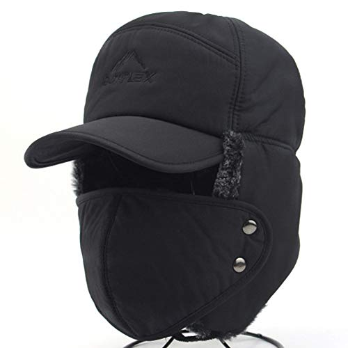 a076d8c756230 3 in 1 Thermal Fur Lined Trapper Hat with Ear Flap and Full Face Mask Neck