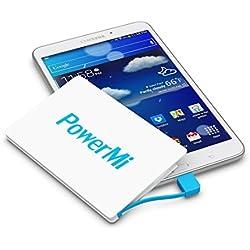 PowerMi Batería Externa Móvil tamaño Tarjeta de crédito - Compatible con Samsung Galaxy, iPhone - Cargador Externo portátil Ultra Delgado y Ligero - Power Bank Mini