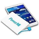 Batería Externa Móvil PowerMi tamaño tarjeta de crédito – Samsung Galaxy, iPhone 5, 6, 7, Xiaomi, Huawei, Nexus, etc. – Cargador externo portátil ultra delgado y ligero – Power Bank - Adaptador Lightning incluido