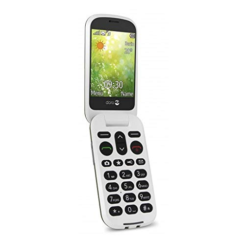 Doro 6050 GSM-Mobiltelefon (3 Megapixel Kamera, Notruftaste, E-Mail) graphit/weiß