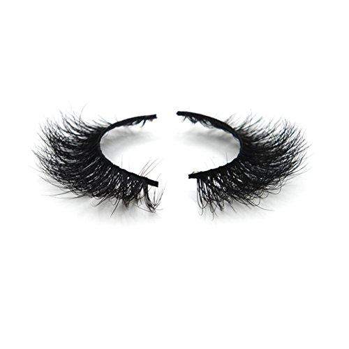 Lunamoon Künstliche Wimpern Natürlich 3D Falsche Wimpern Einzeln Lang Kreuz Erweiterung Fashion Makeup Handgefertigte - Schritt Make-up Augen Schritt Halloween Für