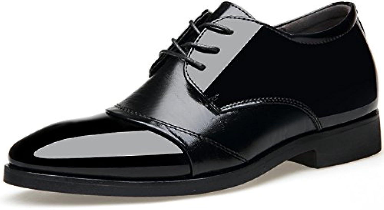 Herrenschuhe Mode Runde Schnürschuhe Business Leder Schuhe Rindsleder Licht Brogue Oxford Schuhe Für Männliche