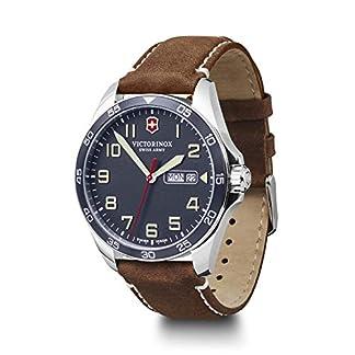 Victorinox Hombre Field Force – Reloj de Acero Inoxidable de Cuarzo analógico de fabricación Suiza con día/Fecha 241848