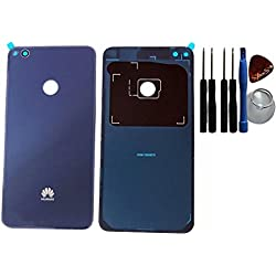 Cache batterie, arrière, cache batterie, cache arrière pour Huawei P8 Lite (2017) Bleu film adhésif / d'outils