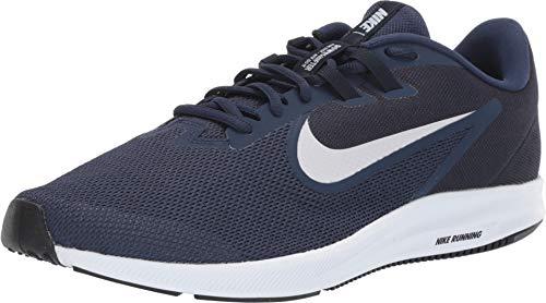 Nike Herren Downshifter 9 Laufschuhe, Blau (Midnight Navy/Pure Platinum 401), 44.5 EU (9 Blau Schuhe Herren Nike)