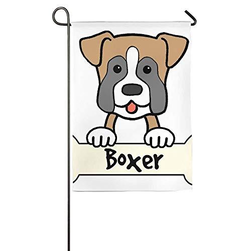 HujuTM Boxer Dog Home Garden Flags Summer Decorative Garden Flags 18x27 Inch - Boxer Garden Flag