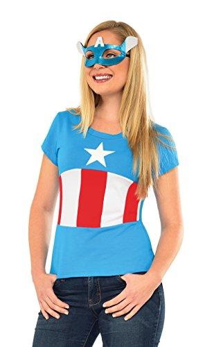 Captain Kit America Kostüm - Rubie's Captain America Kostüm Frauen Basis-Marvel-Kit