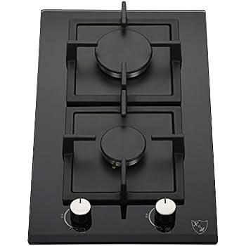 K h domino 2x br leurs table de cuisson gaz en verre - Table de cuisson domino gaz ...