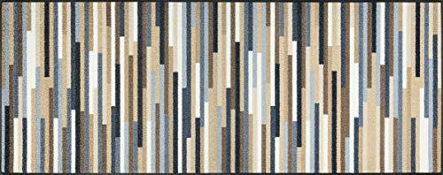 wash+dry Mikado Stripes Nature Fußmatte, Acryl, bunt, 75x190x0.7 cm