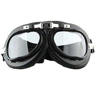 Possbay Motorrad Brillen Eyewear geschützt Brille Fahrrad Vintage Pilot Bike Radfahren Reiten CLEAR LENS ¡