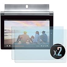 2 x Cristal Templado Protector de Pantalla Para Lenovo Yoga Tab 3 Plus - NEVEQ® Vidrio Templado, el Lenovo Yoga Tab 3 Plus (10.1) Pulgadas de Pantalla con Garantía de por Vida, piel Protectora de la Cubierta de 9H de Dureza.