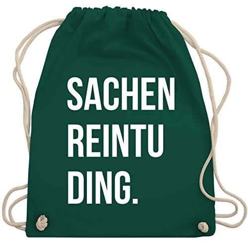 6cb5654f25bbb Festival Turnbeutel - Sachenreintuding - Unisize - Dunkelgrün - WM110 -  Turnbeutel   Gym Bag