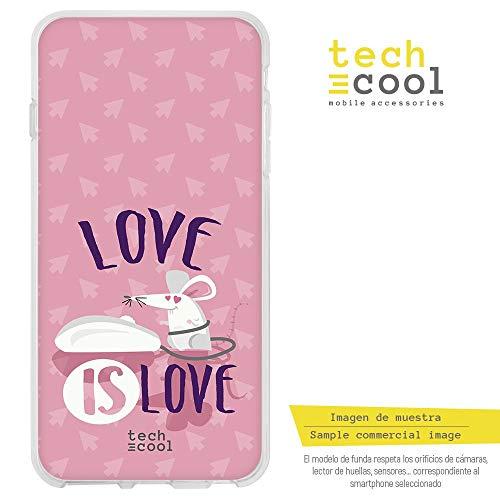 Funnytech¨ SchutzHŸlle Soft TPU Silikon HŸlle Transparent fŸr Samsung Galaxy A7 2018 l Case, Cover, Handy, High Definition Druck [Love is Love parodia Rat-n (Donnie Darko Kaninchen Kostüme)