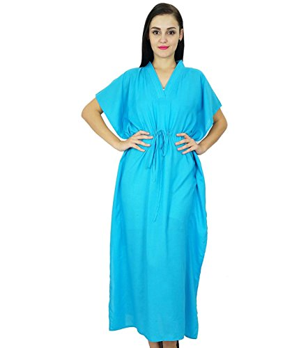 bimba-women-long-solid-kaftan-soft-cotton-beach-cover-up-caftan-maxi