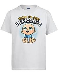 Diver Camisetas Camiseta Nacido para ser Periquito Espanyol fútbol