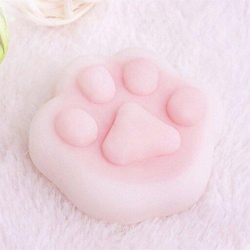 Kenmont Squishies Spielzeug weich Kawaii Langsam Aufstieg Stress Relief Toy Squishy Spielzeug für Erwachsene und Kinder (Rosa Bärentatze)