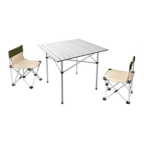 XING ZI Folding table X-L-H Aluminiumlegierung Klapptisch Campingtisch 70 cm Gartentisch Camping Möbel Camp Aktive Klapptisch Reisetisch (Farbe : C)