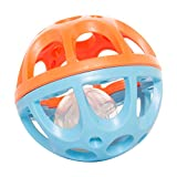 #3: Baybee Bendy and Roll Fun Ball | Grip Ball with Holes for Baby Colourful Ball Bed Toys ( Blue )