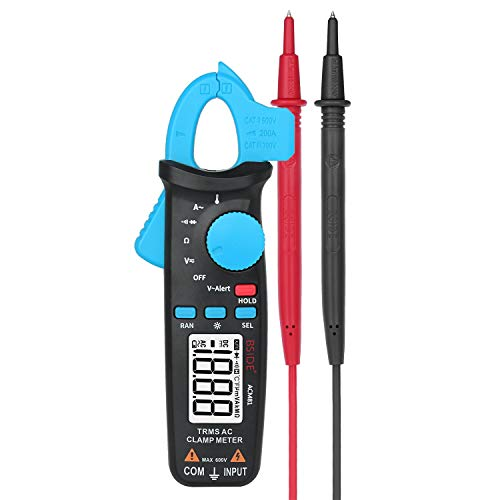 Digital Clamp Meter 1mA AC Strom Tasche True RMS Auto-Ranging Temperatur Ohm Tester ACM81 (Color : Blue-ACM81)