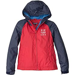 Tommy Hilfiger Impermeable Para Bebé Rojo Y Marino 36 Meses
