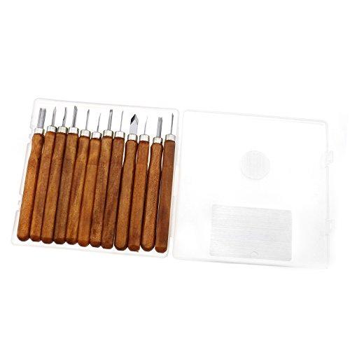 12Profi Holz Werkzeug Hand stechbeiteln für Holzarbeiten DIY Kit