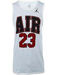 Nike Jordan Air 23 Camiseta de Tirantes, Hombre, Blanco, XX-Large