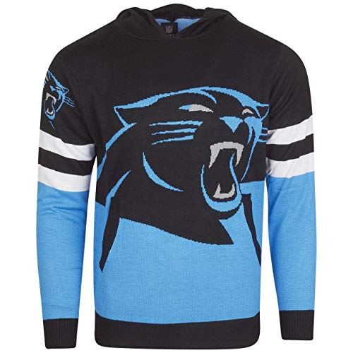 Team Apparel - CAROLINA PANTHERS - NFL - Strick - Hoodie - schwarz / blau