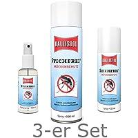 BALLISTOL Stichfrei SET 500 ml + 125 ml + 100 ml Mücken- + Insektenspray preisvergleich bei billige-tabletten.eu
