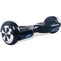 """BEBK Hoverboard 6.5"""" Patin Electrico,2 * 350W Motor LED, batería de Litio y autonomía DE 12 Km/h,Scooter eléctrico Self-Balance (Black)"""
