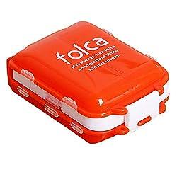 Pill Organizer Travel Portable, Folding Three-stage Pill Box, Pill Box 8 Grids Per Week
