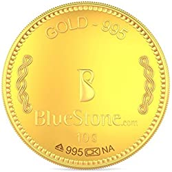 BlueStone BIS Hallmarked 10 grams 24k (995) Yellow Gold Precious Coin