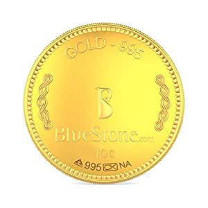 BlueStone BIS Hallmarked 10 grams 24k (995) Yellow Gold Precious Coin