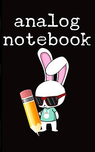 analog notebook notizbuch: Old School Binary Pencil Paper Rabbit Journal Tagebuch Bleistift Papier Kaninchen