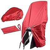 TROCKOLINO Set in rot - Regenschutz für Fahrrad-Kindersitz und Sattel