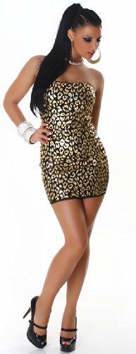 Jela london 110067 robe bandeau avec paillettes &modèle élégant Or - Or