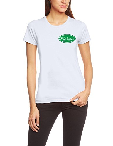 Coole-Fun-T-Shirts T-Shirt Merlotte's BAR and GRILL - true blood !, weiß, M, 10659_weiss-green-girly_GR.M -