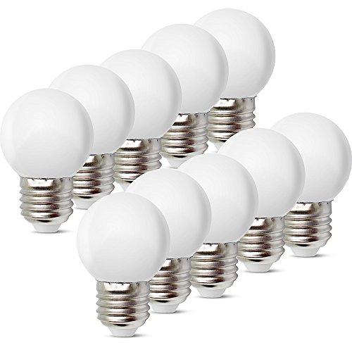 10 Stück E27 Schraube Sockel 1 W LED -
