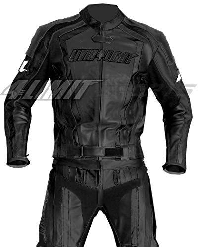 4LIMIT Sports Motorrad Lederkombi LAGUNA SECA Zweiteiler, Schwarz, Größe L