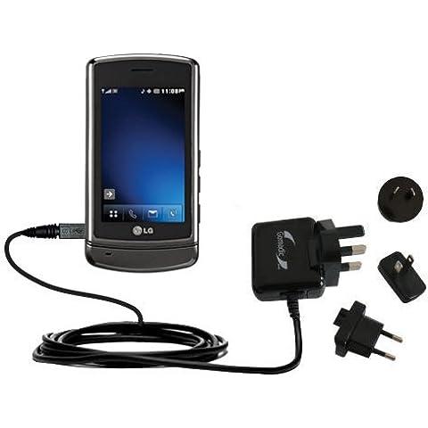 10W Caricabatterie domestico da muro AC internazionale compatibile con LG VX9700 con la tecnologia TipExchange