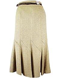 f26e89348a Ladies Vintage Style Stone Plaited Belt A-Line Skirt