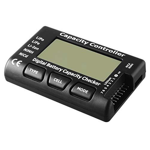 Elviray Universal RC CellMeter-7 Digital Cell Battery Capacity Checker für LiPo Life Li-Ion-NiMH-Batteriespannungsprüfer Lipo Li-ionen