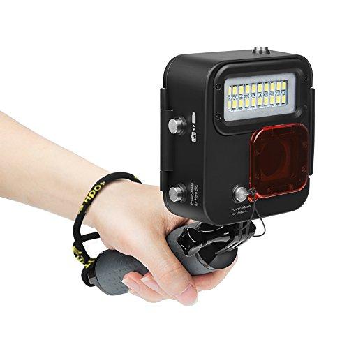SHOOT 1000 Lumen wasserdichte Tauchlampe mit Floaty Griff für GoPro Hero 7 Black/(2018)/ Hero 6/ Hero 5/Hero 4 Kamera