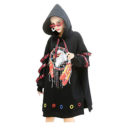 548f5236299 Gen.Gu Mujeres Oversized Suéter Bolsillo hasta la Rodilla Hoodie Dress  Grueso Pullover Coat Hoody