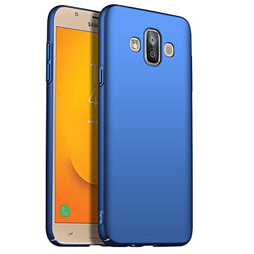 SOCINY Samsung Galaxy J7 Duo Estuche de Gel, Ultradelgado y Delgado, Totalmente Protector, Sensación de Seda, Funda rígida para PC para Samsung Galaxy J7 Duo (para Samsung Galaxy J7 Duo, Azul)
