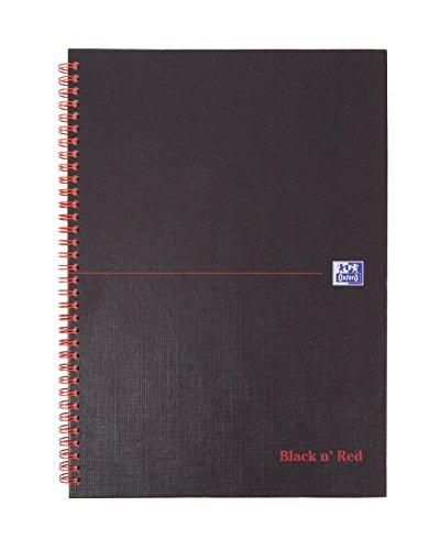 Cuaderno perforado rojo y negro