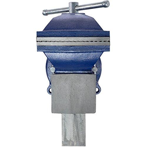 TecTake Schraubstock Amboss 360° drehbar mit Drehteller für Werkbank – diverse Größen – (Spannweite 165 mm | Nr. 401125) - 5